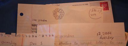 Sample of letter headings written by elementary school children